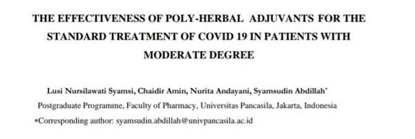 Studi Onoiwa MX Terapi Pasien Covid-19 Masuk Jurnal Internasional